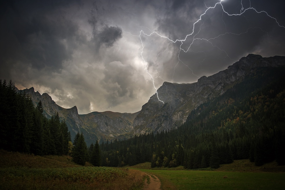 High mountain storm