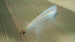 Irrigation equipment in a field