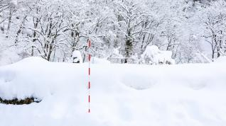 Stand pipe to measure snow depth