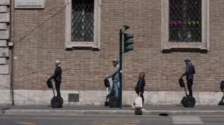 Segway riders on the street