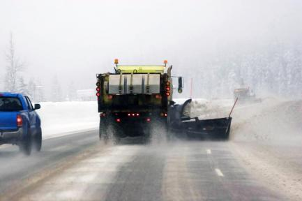 snowplow clearing a road
