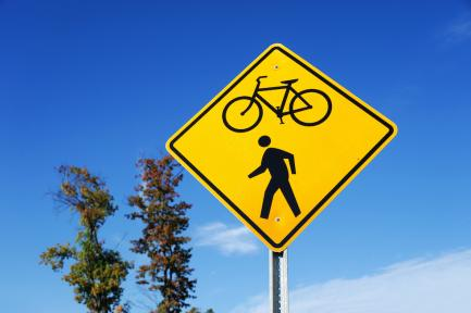 bicycle pedestrian crossing