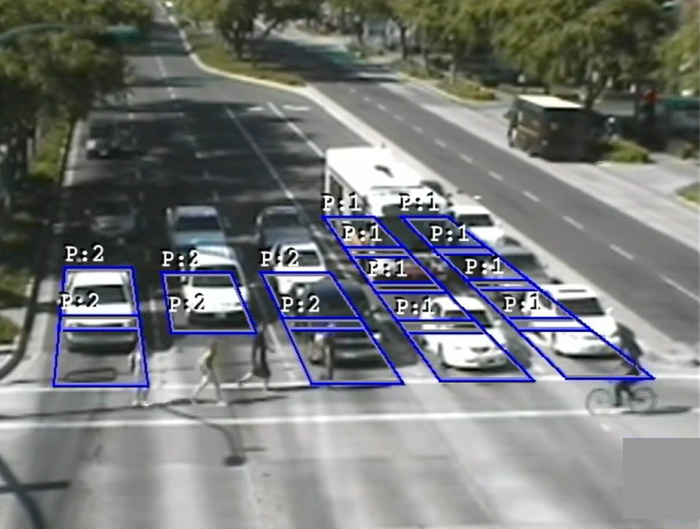 PedTrax provides bi-directional counting and speed tracking of pedestrians within the cross-walk, automatically collecting this information after normal vehicle detection has been implemented.